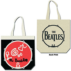 The Beatles Cotton Tote: Love Drum