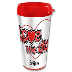 The Beatles Travel Mug: Love me do with Plastic Body
