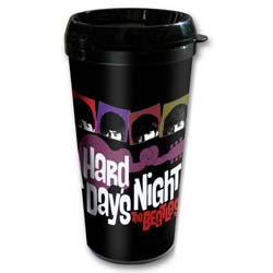 The Beatles Travel Mug: A Hard Days Night with Plastic Body