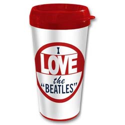 The Beatles Travel Mug: I Love The Beatles with Plastic Body