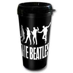 The Beatles Travel Mug: Jump with Plastic Body