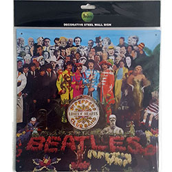 The Beatles Metal Wall Sign: Sgt Pepper