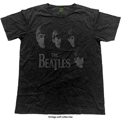 The Beatles Men's Fashion Tee: Faces (Vintage Finish)