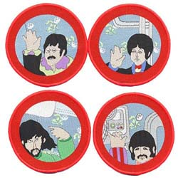 The Beatles Standard Patch Set: Cartoon Port Hole (Iron On)