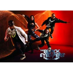 The Black Eyed Peas Postcard: Boom Boom Pow (Standard)