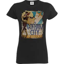 DC Comics Ladies Tee: Justice League Bombshell Batgirl Gotham City Airlines