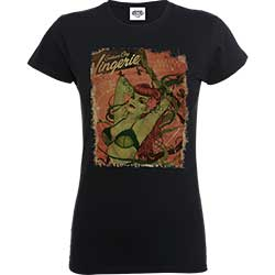 DC Comics Ladies Tee: Justice League Bombshell Poison Ivy Lingerie Catalog