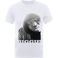 Biggie Smalls Men's Tee: B&W Portrait
