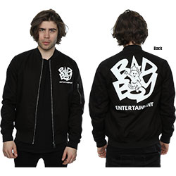 Biggie Smalls Bomber Jacket: Bad Boy Baby (Back Print)
