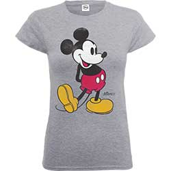 Mickey Mouse Ladies Tee: Classic Kick
