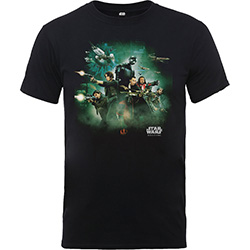 Star Wars Kids Boy's Fit Tee: Rogue One Poster