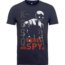 Star Wars Kids Boy's Fit Tee: Rogue One K2SO Rebel Spy