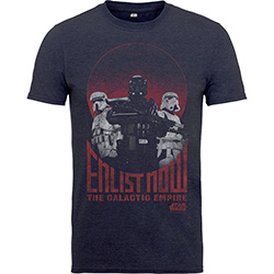 Star Wars Kids Boy's Fit Tee: Rogue One Enlist Now