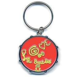 The Beatles Standard Key-Chain: Love Drum