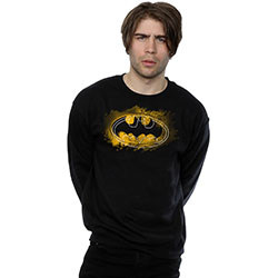 DC Comics Men's Sweatshirt: Batman Spray Logo (Small)