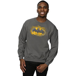 DC Comics Men's Sweatshirt: Batman Spray Logo