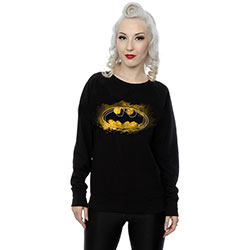 DC Comics Ladies Sweatshirt: Batman Spray Logo