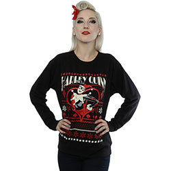 DC Comics Ladies Sweatshirt: Batman Harley Quinn Christmas