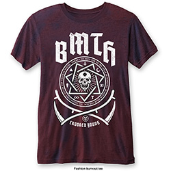 Bring Me The Horizon Men's Fashion Tee: Crooked Young with Burn Out Finishing