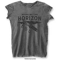 Bring Me The Horizon Ladies Fashion Tee: Wound with Burn Out Finishing