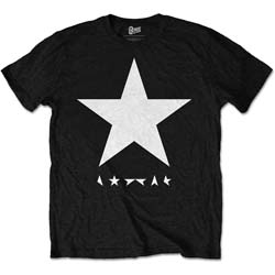 David Bowie Men's Premium Tee: Blackstar (White Star on Black)