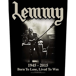 Lemmy Back Patch: Lived to Win