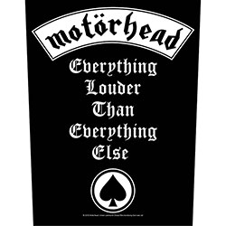 Motorhead Back Patch: Everything Louder