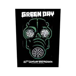 Green Day Back Patch: Gas Mask