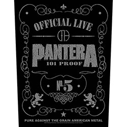 Pantera Back Patch: 101 Proof