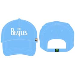 The Beatles Men's Baseball Cap: Drop T Logo with Distressed Printing and Badge