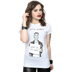 Justin Bieber Ladies Tee: What do you mean? (XX-Large)