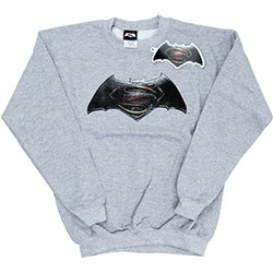 DC Comics Kids Boy's Fit Sweatshirt: Batman v Superman Logo (7 - 8 Years)