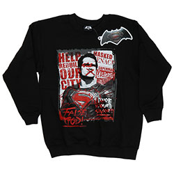 DC Comics Kids Boy's Fit Sweatshirt: Batman v Superman False God