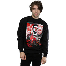 DC Comics Men's Sweatshirt: Batman v Superman False God