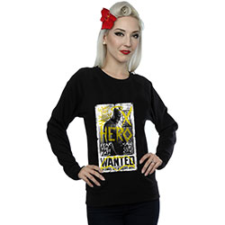 DC Comics Ladies Sweatshirt: Batman v Superman Wanted Poster