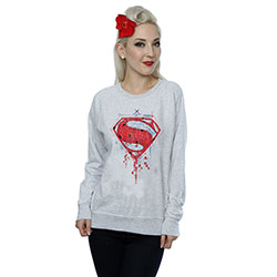 DC Comics Ladies Sweatshirt: Batman v Superman Geo Logo (X-Large)