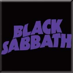 Black Sabbath Fridge Magnet: Wavy Logo