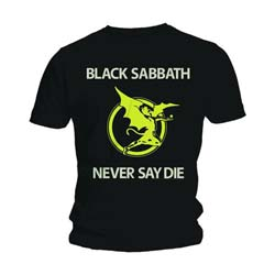 Black Sabbath Men's Tee: Never Say Die
