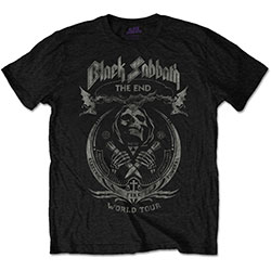 Black Sabbath Men's Tee: The End Mushroom Cloud (Distressed)