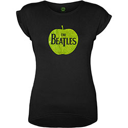 The Beatles Ladies Fashion Tee: Apple with Foiled Application
