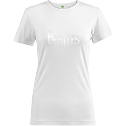 The Beatles Ladies Fashion Tee: Drop T Logo with Hi-Build Application