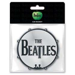 The Beatles Rubber Magnet: Drum head with Rubberised Finish