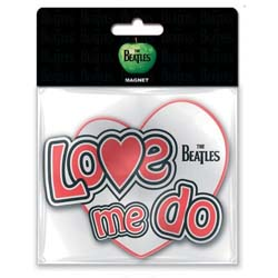 The Beatles Rubber Magnet: Love Me Do with Rubberised Finish