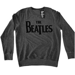 The Beatles Men's Sweatshirt: Drop T Logo with Caviar Bead Application