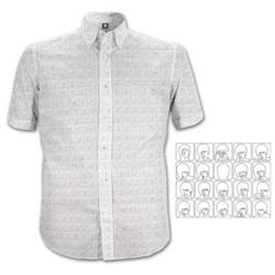 The Beatles Men's Formal Shirt: Hard Days Night Pattern with All-over-printing