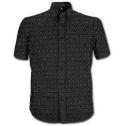 The Beatles Men's Formal Shirt: Hard Days Night with All-over-printing