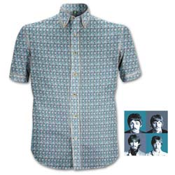The Beatles Men's Formal Shirt: 1967 Heads Pattern with All-over-printing