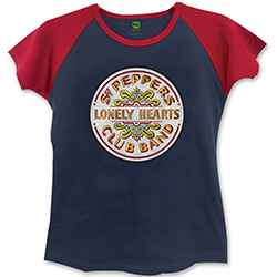 The Beatles Ladies Fashion Tee: Sgt Pepper with Skinny Fitting