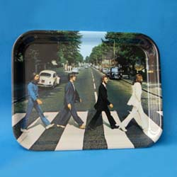 The Beatles Plastic Tray: Abbey Road Crossing with Rectangular Body