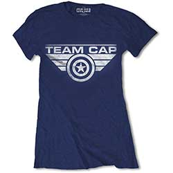 Marvel Comics Ladies Premium Tee: Captain America Civil War Team Cap